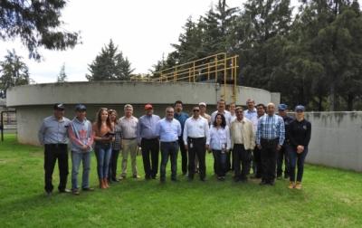 Representantes de la CNDH recorren platas de tratamiento de aguas residuales