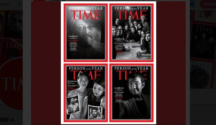 Revista TIME honra a periodistas encarcelados y fallecidos como personas del año.