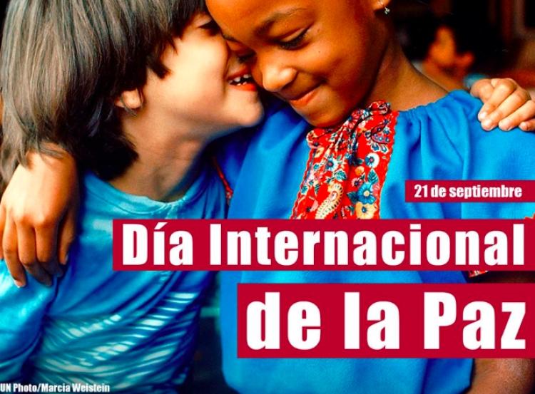 """Así conmemoran """"Día Internacional de la Paz"""""""