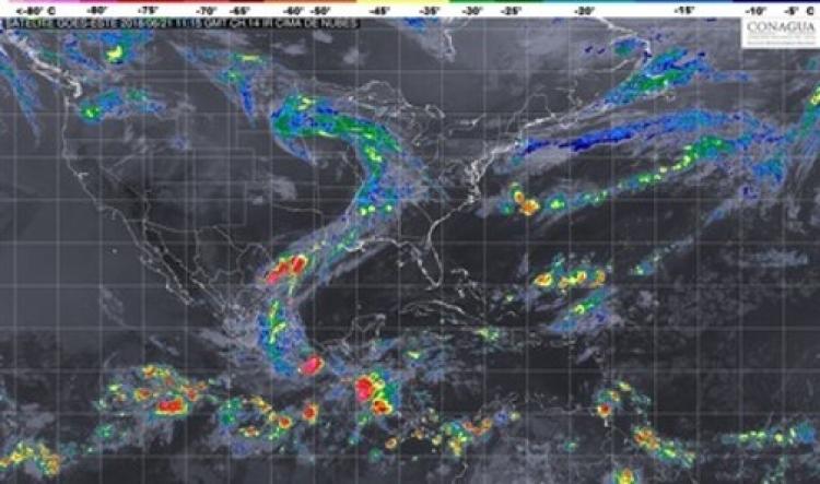 Se mantienen lluvias en mayor parte del País