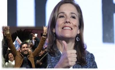 Margarita Zavala festeja triunfo de Felipe Cantú para alcaldía de Monterrey
