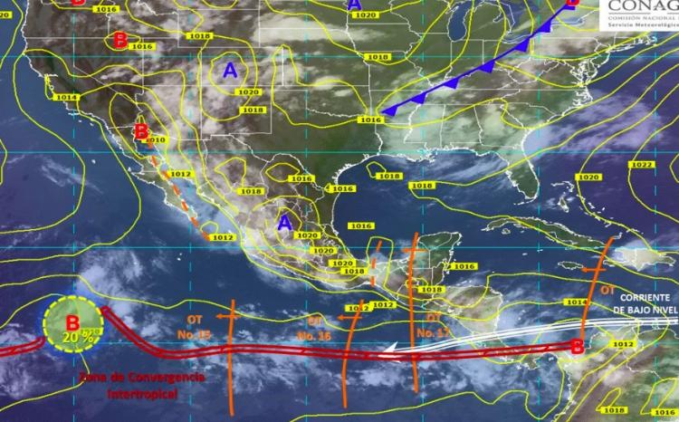Alerta CONAGUA por tormentas intensas en 7 estados de la república