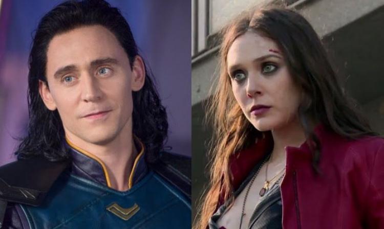 Tom Hiddleston como Loki y Elizabeth Olsen como la Bruja Escarlata tendrán su mini serie en la plataforma de Disney.