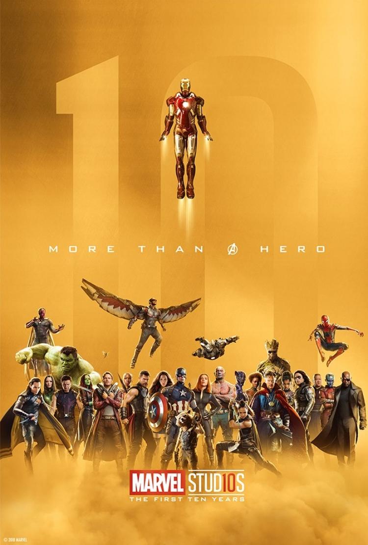 Marvel celebra su décimo aniversario con pósters especiales.