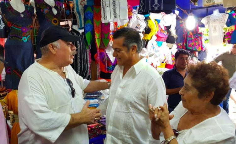 """Así fue la visita de """"El Bronco"""" por Cancún"""