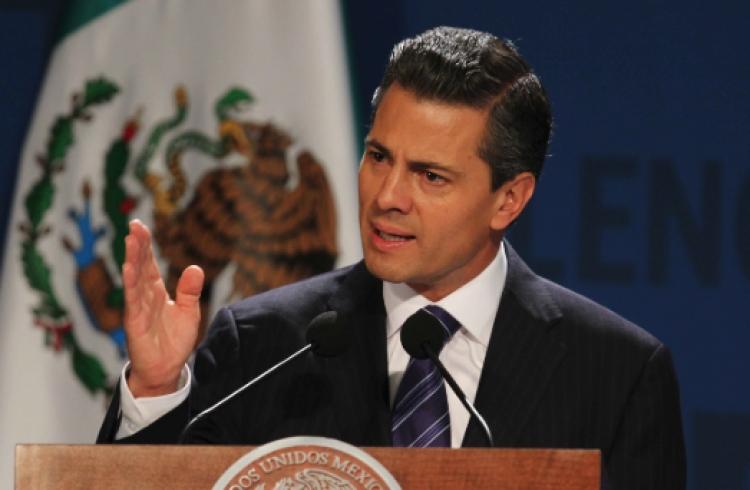 Crimen organizado, reto de gran magnitud, asegura Peña Nieto