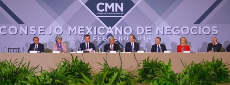 López Obrador apoya a nuevo director del Consejo Mexicano de Negocios