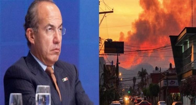 Felipe Calderón reclama recorte presupuestal para combate y prevención de incendios forestales