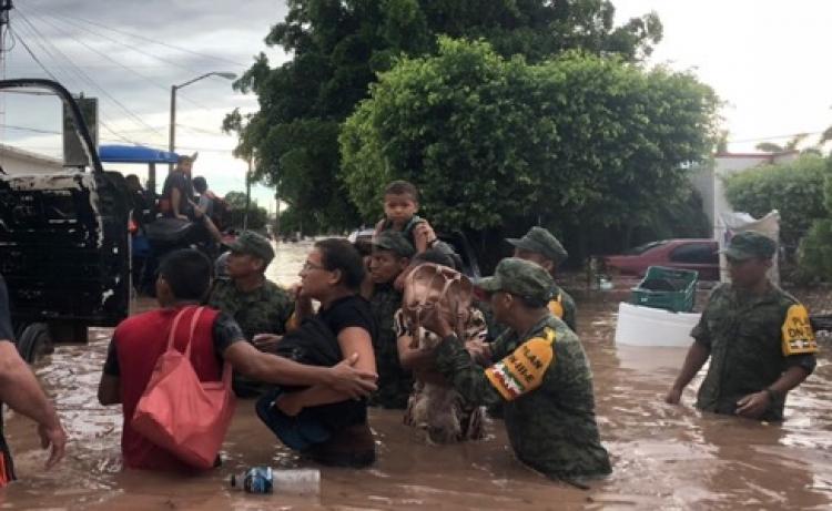 En emergencia municipios de Sinaloa y Sonora