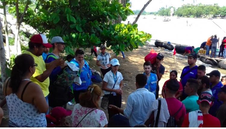 Urgente estabilizar situación de caravana de migrantes: ACNUR