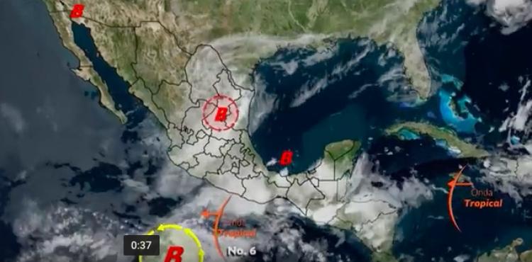 CONAGUA alerta por tormentas intensas en al menos 15 entidades
