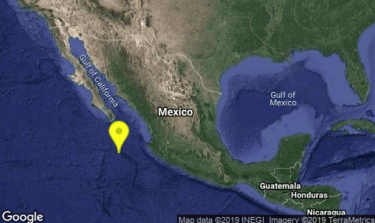 Se registró sismo de 4.9 en Cabo San Lucas