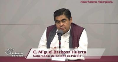Los pobres estamos inmunes: Miguel Barbosa sobre el Covid-19