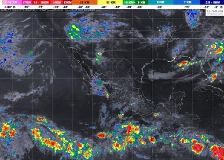 Pronostican Tormentas y lluvias para el país