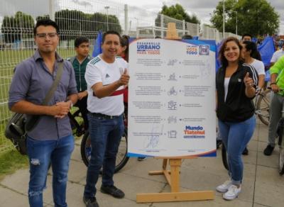Mundo Tlatehui firmó compromisos en pro de la movilidad sustentable