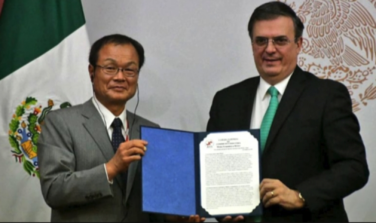 Recibe Marcelo Ebrard a una amplia misión comercial japonesa