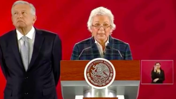 Sánchez Cordero presenta terna para dirección del INMujeres