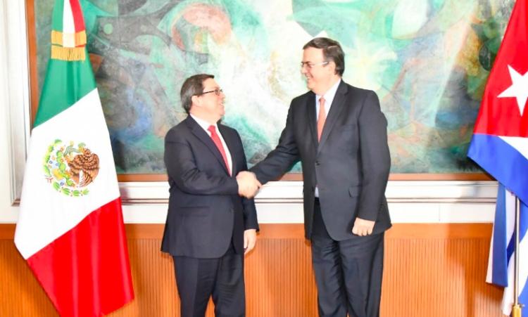 De esto trató la reunión de Marcelo Ebrard con el canciller de Cuba