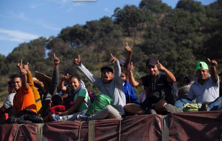 La Primera ola de la caravana migrante llega a Tijuana.