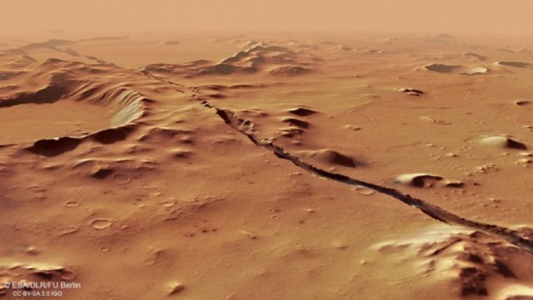 Descubren fisuras en el suelo de Marte