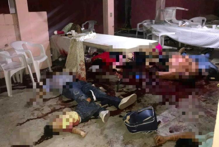 Asesinan a 13 personas en Minatitlán durante un convivio familiar