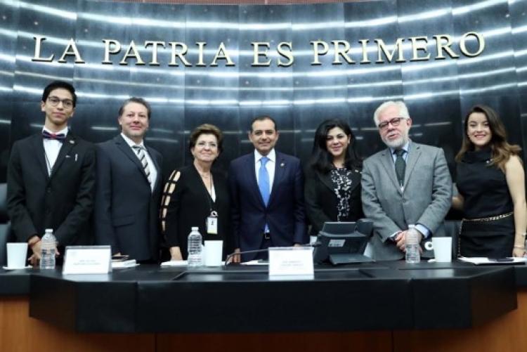 """Inauguran en el Senado de la República, Primer Simulacro Educativo """"Global Sen Mex Mun 2018""""."""