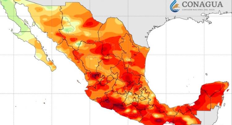 Escaso potencial de lluvia en gran parte del país