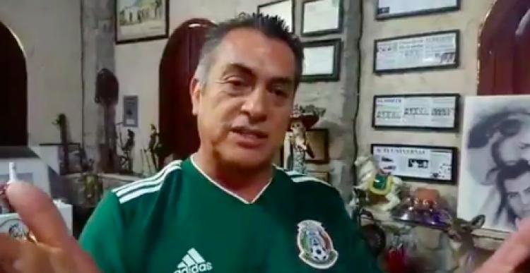 """Así vivió """"El Bronco"""" el triunfo de la Selección Mexicana en Rusia2018"""