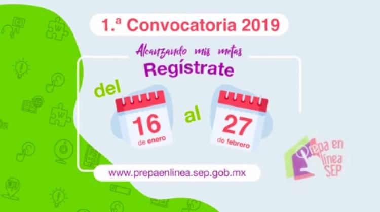 Prepa en línea-SEP abre su primer convocatoria 2019