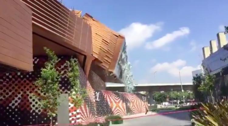 Video aficionados captan el momento del colapso en Plaza Artz Pedregal