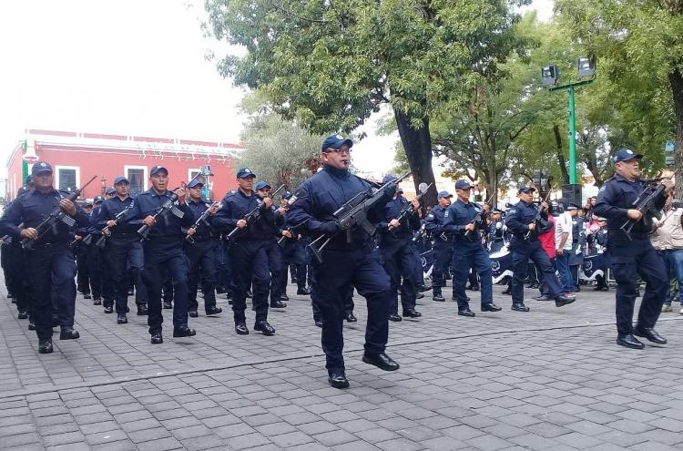 Participa policía municipal de Tlaxcala en desfile de Independencia