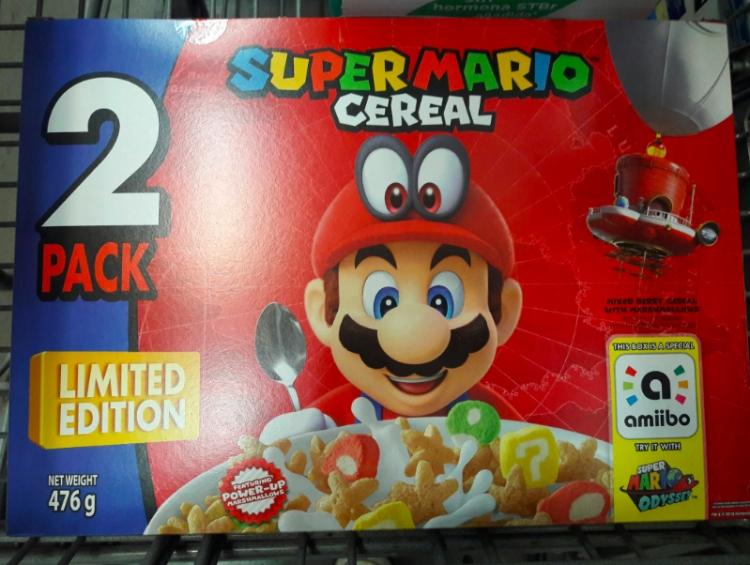 Lanzan edición limitada de cereal Super Mario