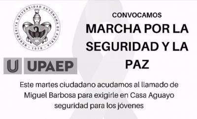 Estudiantes convocan a manifestarse frente a Barbosa para exigirle seguridad