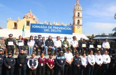 Realizan en San Pedro Cholula la 1ra jornada de Prevención del Delito