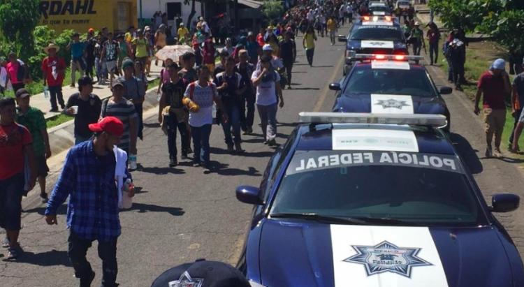 Gobiernos estatal y federal atienden a migrantes centroamericanos