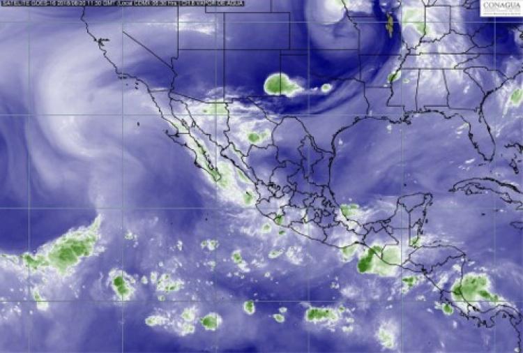 Comienza la semana con tormentas en todo el país