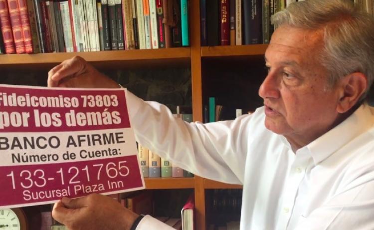 Multan a MORENA por usar recursos del fideicomiso para damnificados del sismo en su campaña