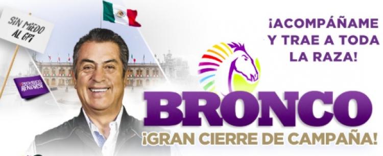 """""""El Bronco"""" prepara cierre de campaña en Nuevo León"""