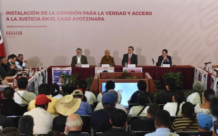 Segob Instala comisión de la verdad para caso Ayotzinapa