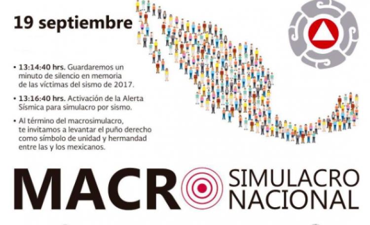 México buscó fortalecer la cultura de prevención con #MacroSimulacro2018