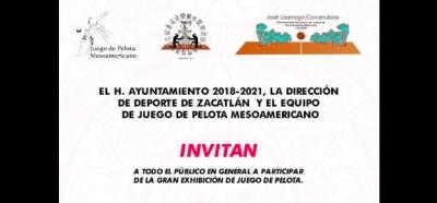 """Zacatlán invita a la """"Gran exhibición de Juego de Pelota"""""""