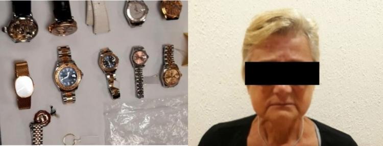 Detienen a mujer italiana por posesión de droga y joyas en Cancún