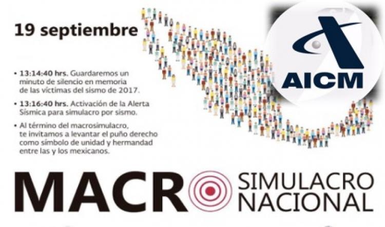 Operaciones del AICM no se interrumpirán por #MacroSimulacro2018