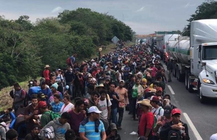 México se prepara para el ingreso de nueva caravana migrante.