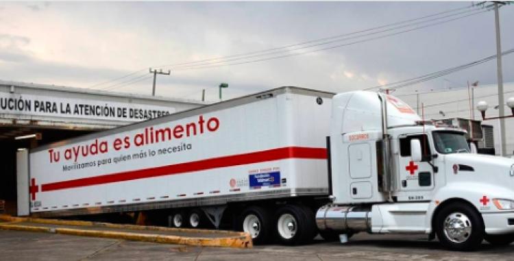 Cruz Roja envía 30 toneladas de ayuda a damnificados de Sinaloa