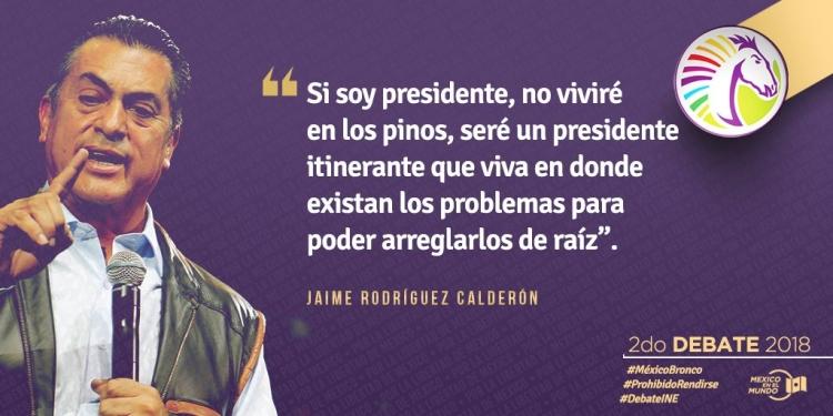 Jaime Rodríguez Calderón realiza propuestas post-debate