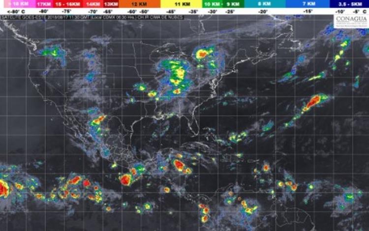 Continuarán lluvias en el centro y sur del país