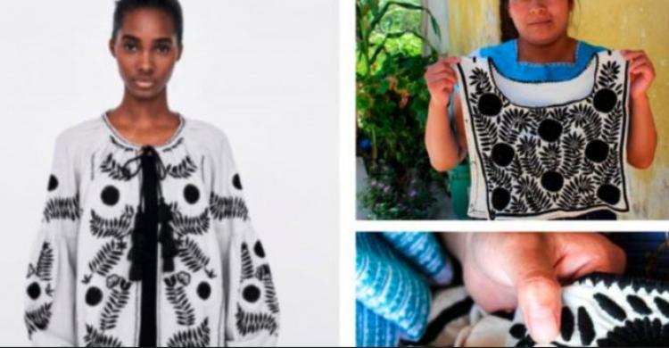 Zara plagio bordado de artesanas mexicanas