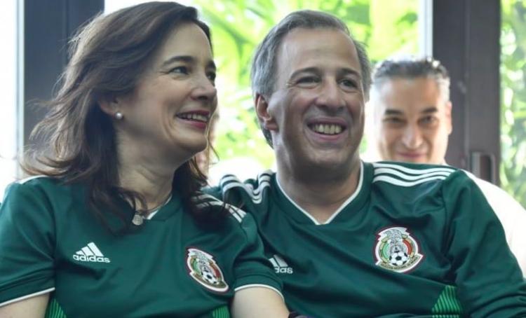 Así vivió Meade la victoria de la Selección Mexicana en Rusia2018