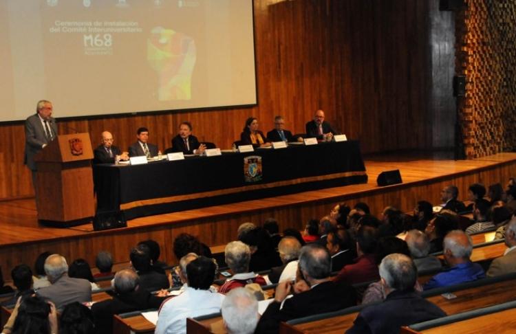 Instauran comité Interuniversitario en conmemoración al M68, en Tlatelolco.